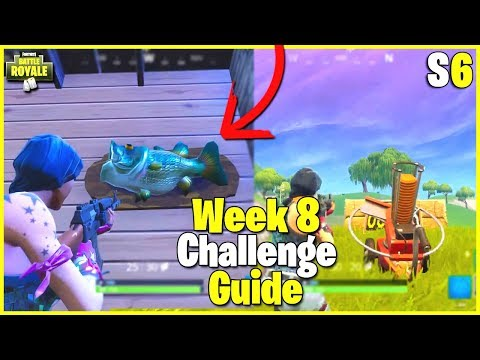 All Trophy Fish Locations + Clay Pigeon Shooters | S Week  Challenge Guide - Fortnite