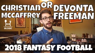 Christian McCaffrey or Devonta Freeman - Which RB Should You Draft?   2018 Fantasy Football