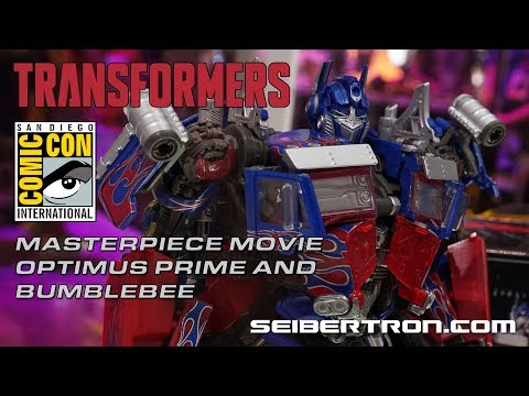 Transformers Masterpiece Movie Optimus Prime and Bumblebee from Hasbro