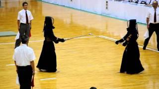 平成23年全国高等学校総合体育大会剣道大会男子個人決勝戦.