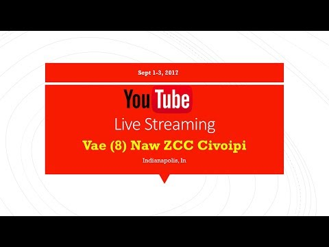 Saturday Main Service ( Vae (8) Naw ZCC Civoipi )  Indianapolis *USA* | 4 Channels #LIVE