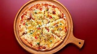 Диетическая пицца с тунцом.  Диетическое питание.