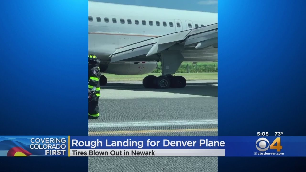 Tires On United Airlines Jet Blow During Landing At Newark Airport