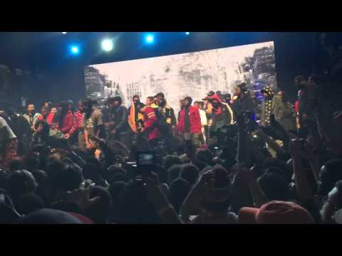 A$AP Rocky - 1Train (feat. Joey Bada$$ & Danny Brown) (Live @ Yams Day)