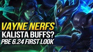 BIG 6.24 Changes - VAYNE NERFS? KALISTA BACK? (League of Legends)