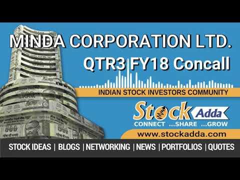 Minda Corporation Ltd Investors Conference Call Q3FY18