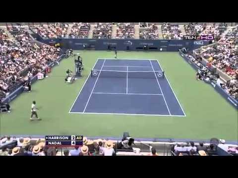 Rafael Nadal vs Ryan Harrision ~ Set 1 Highlights ~ US Open 2013 R1)