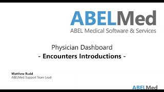 Physician Dashboard - Encounters Introductions