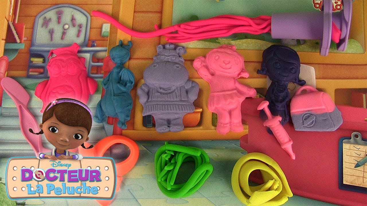 docteur la peluche p te modeler giocacrea dido dottoressa peluche youtube. Black Bedroom Furniture Sets. Home Design Ideas