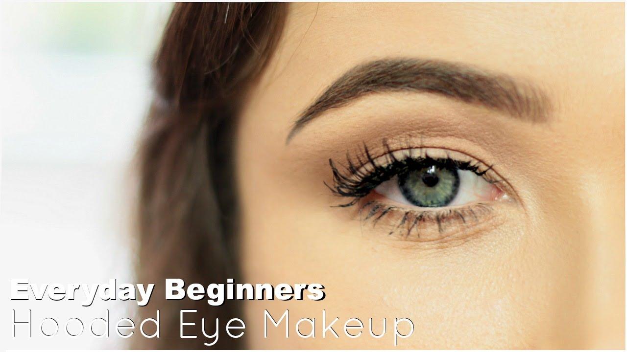 beginner eye makeup for hooded eye   everyday hooded