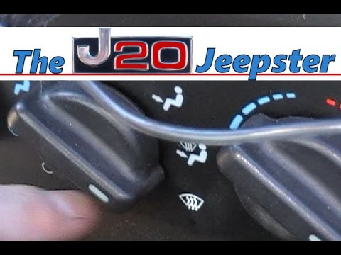 97 01 Cherokee Heater Defrost Diverter Vent Fix Youtube