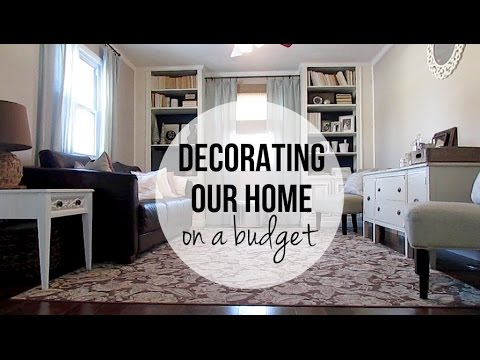 Decorating Our Home On A Budget: Living Room - YouTube