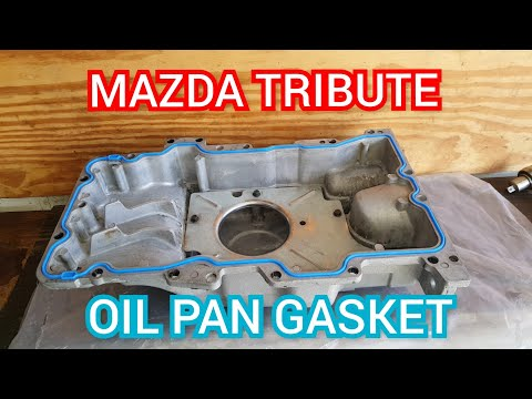 How to replace the oil pan gasket on a 2008 Mazda tribute/escape/mariner 3.0l v6 duratec