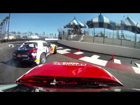 Dai Yoshihara VS Ryan Tuerck On-board Cam Formula Drift Long Beach 2011 Great 8