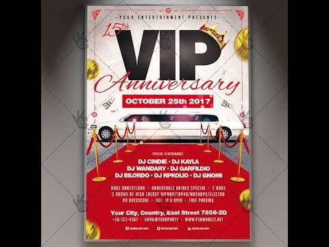 VIP Anniversary - Premium Flyer PSD Template