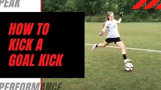 Learn how to take Soccer Goal Kicks
