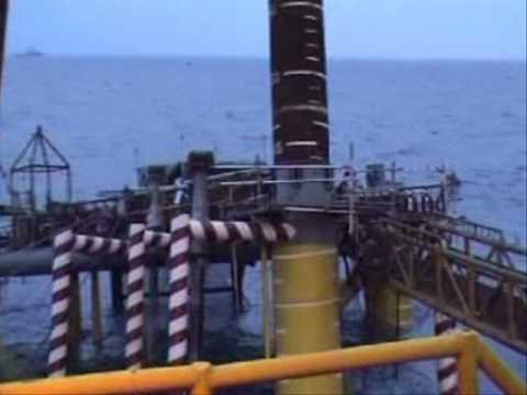 Offshore accident while building a platform