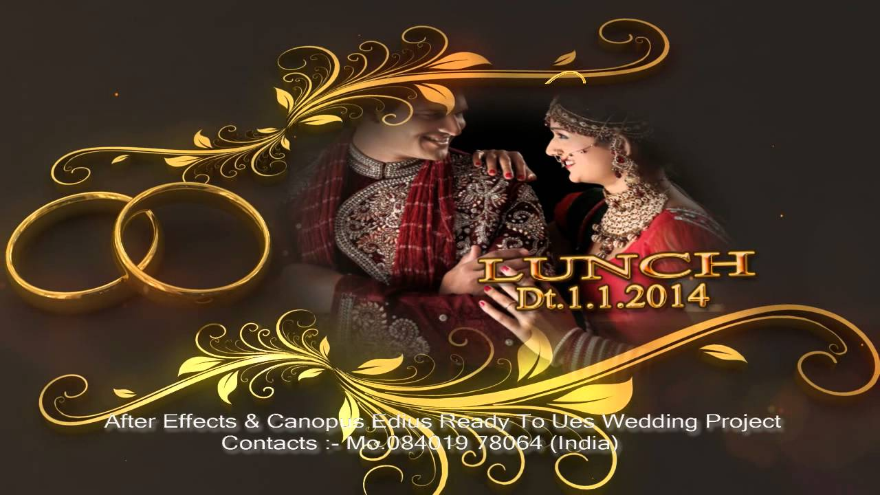 After Effects Wedding Title Wedding Rings Youtube