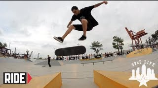James Craig, Johnny Tang, and SPoT crew skate Shanghai, China