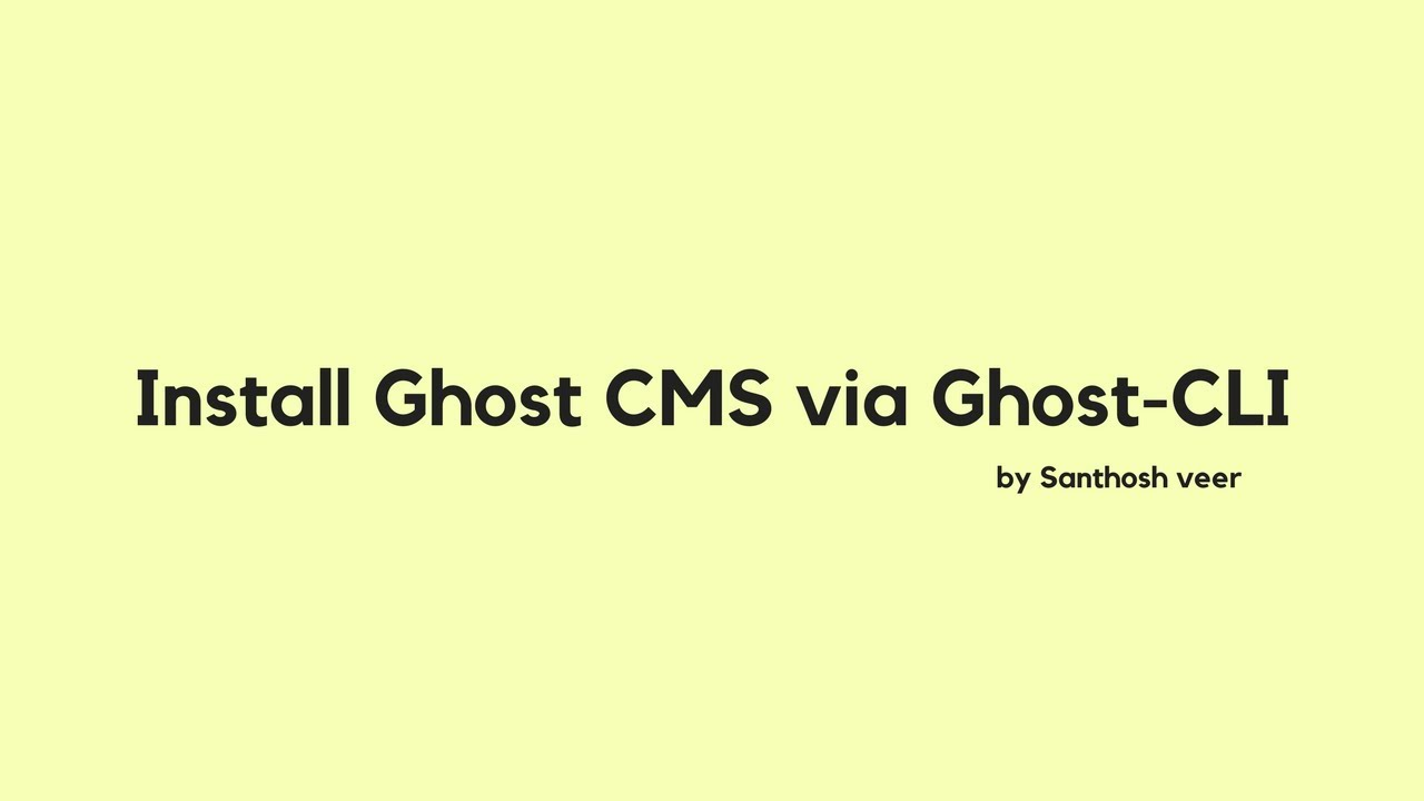 How to Install Ghost-CLI on DigitalOcean