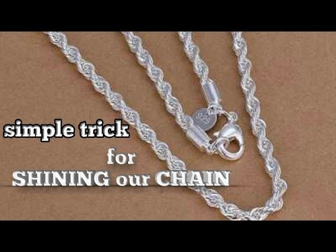 Simple trick to get our silver chain shaining,#homemadesilvercleaner,#removetarnishfromsilver