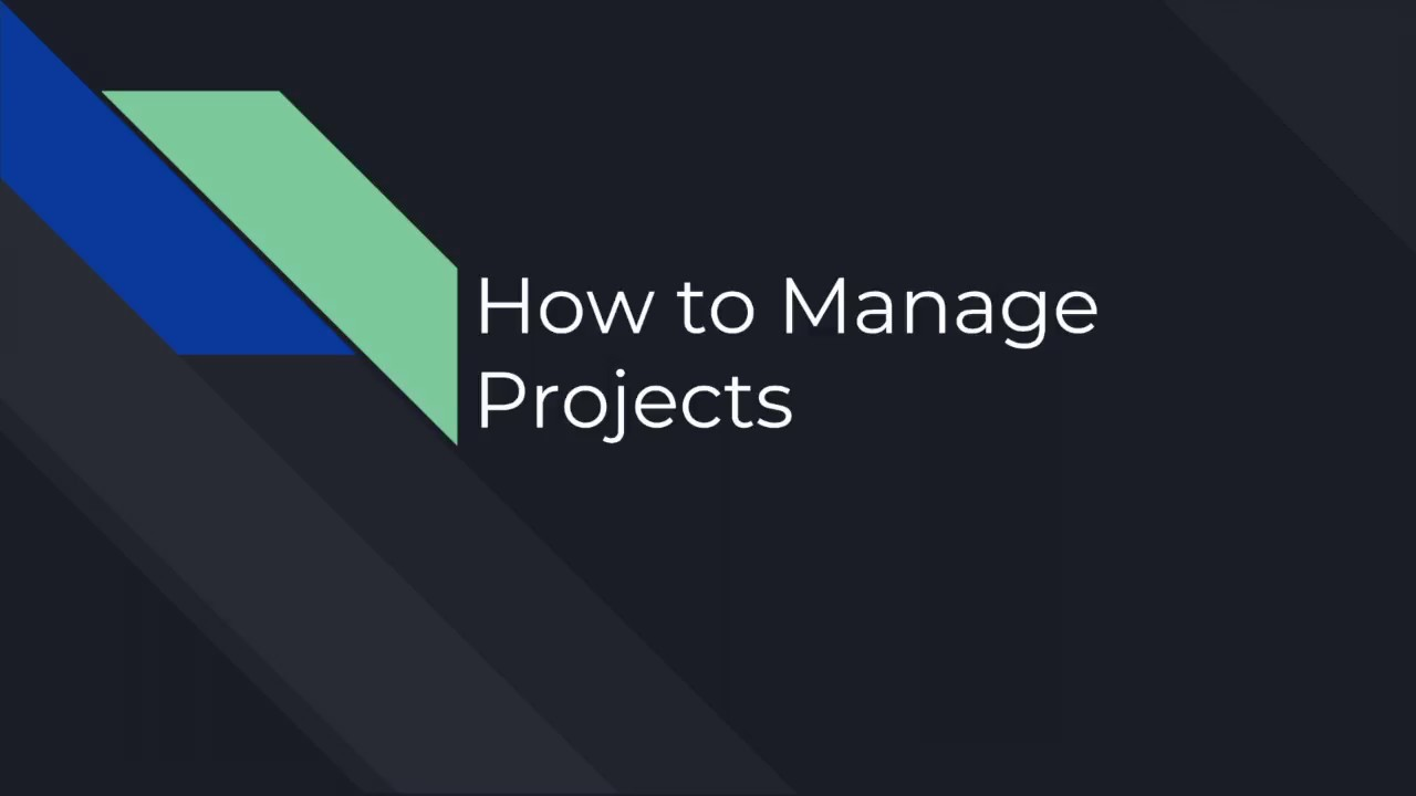 How to Manage Build Projects