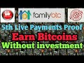 FamilyBTC - 5th Payment Proof | Earn Bitcoins without Investment |  Best Bitcoin PTC