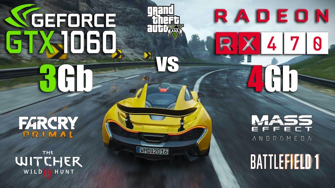 GTX 1060 3Gb vs RX 470 4Gb Test in 6 Games (i5 7600k)