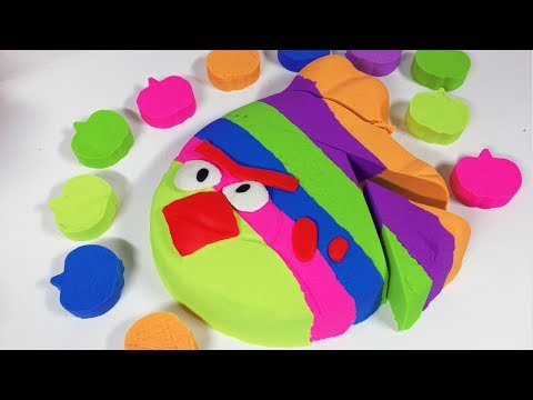 Thumbnail: DIY How To Make Kinetic Sand Play Doh Angry Birds - Learn Colors Video For Kids