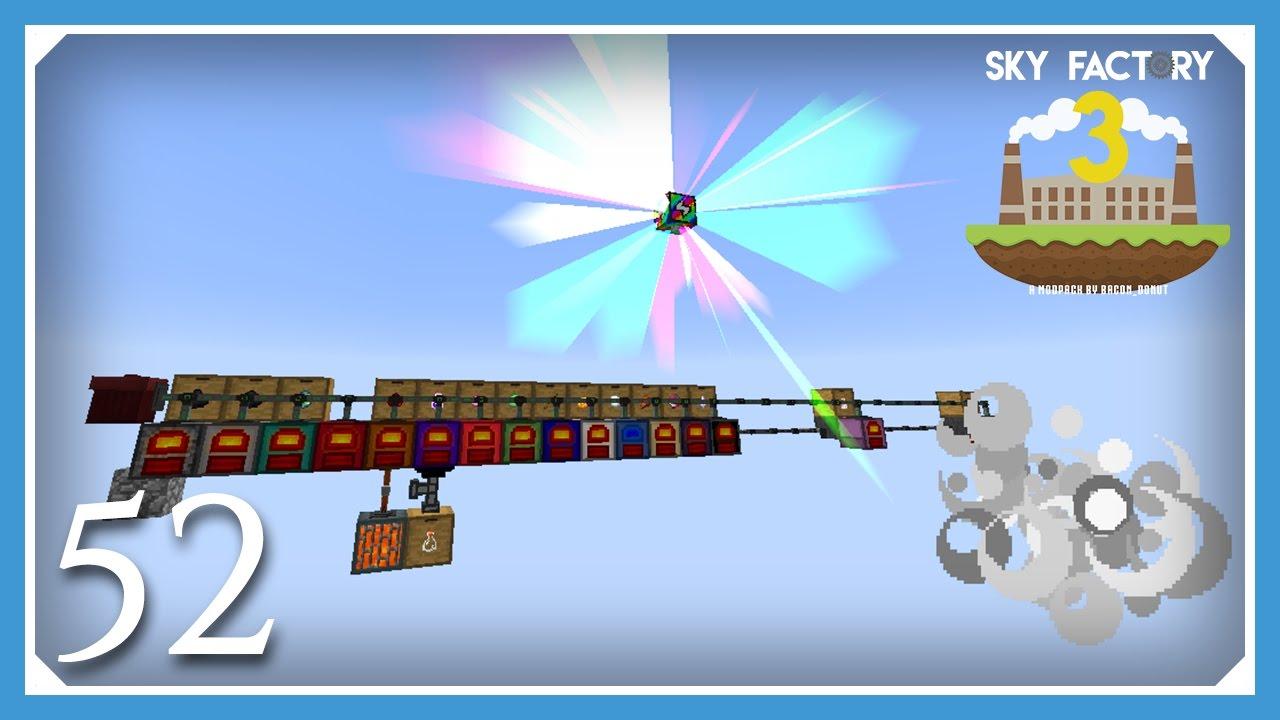 FTB Sky Factory 3 | Extra Utilities Rainbow Generator! | E52 (Modded  Skyblock Minecraft 1 10 2)