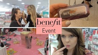 Benefit Product Launch!   Event Vlog and Goody Bag Haul