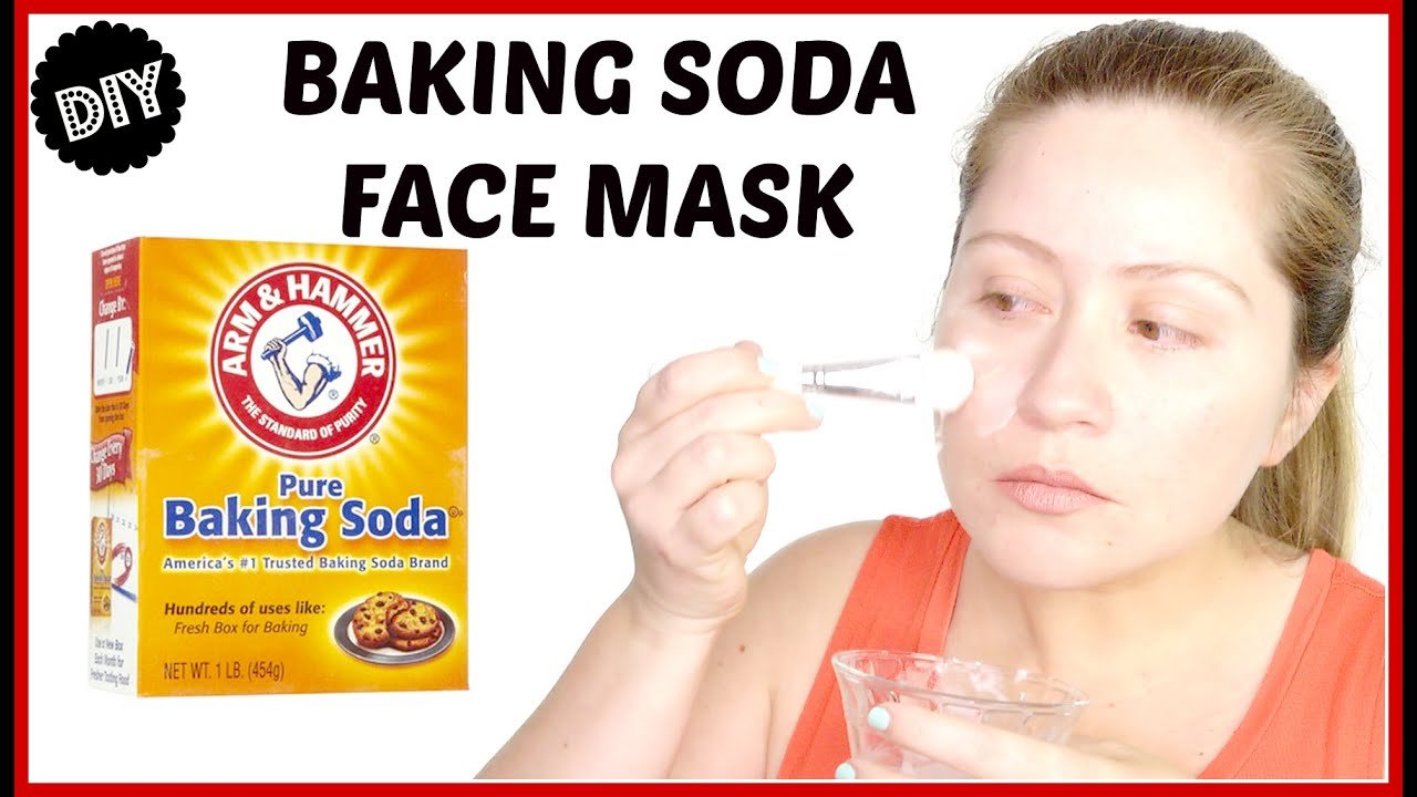 Face mask with baking soda