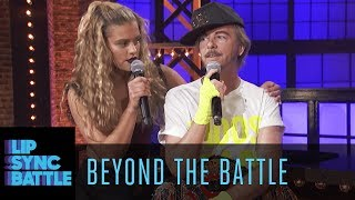 David Spade vs. Nina Agdal Go Beyond the Battle | Lip Sync Battle