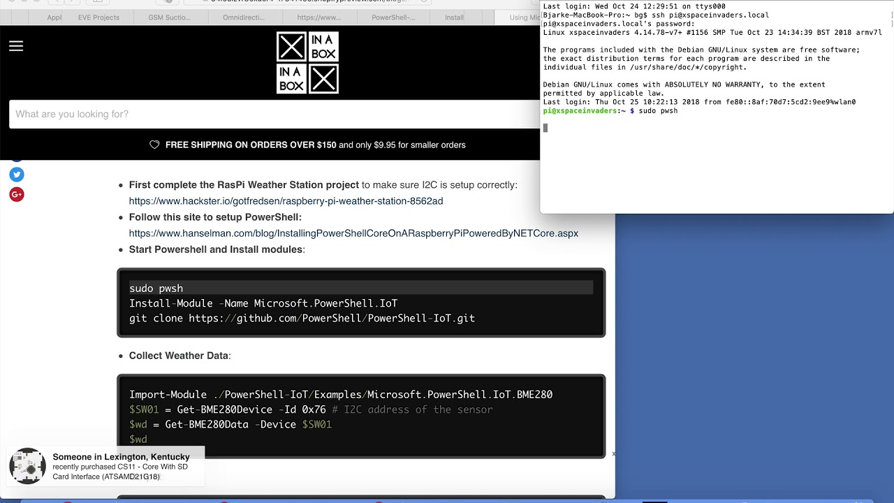 Using Microsoft PowerShell and Raspberry Pi to Build a