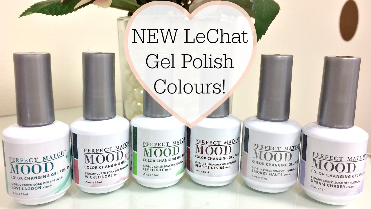 NEW LeChat Perfect Match MOOD Gel Polish Colours! - YouTube