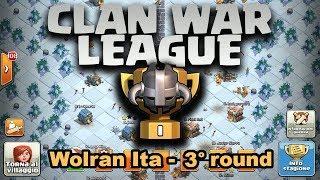 🔴 LIVE Wolran Ita! 3° Giorno di CWL (Clash Of Clans)