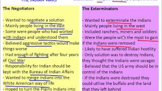 American West - The Indian Wars - The Indian Problem