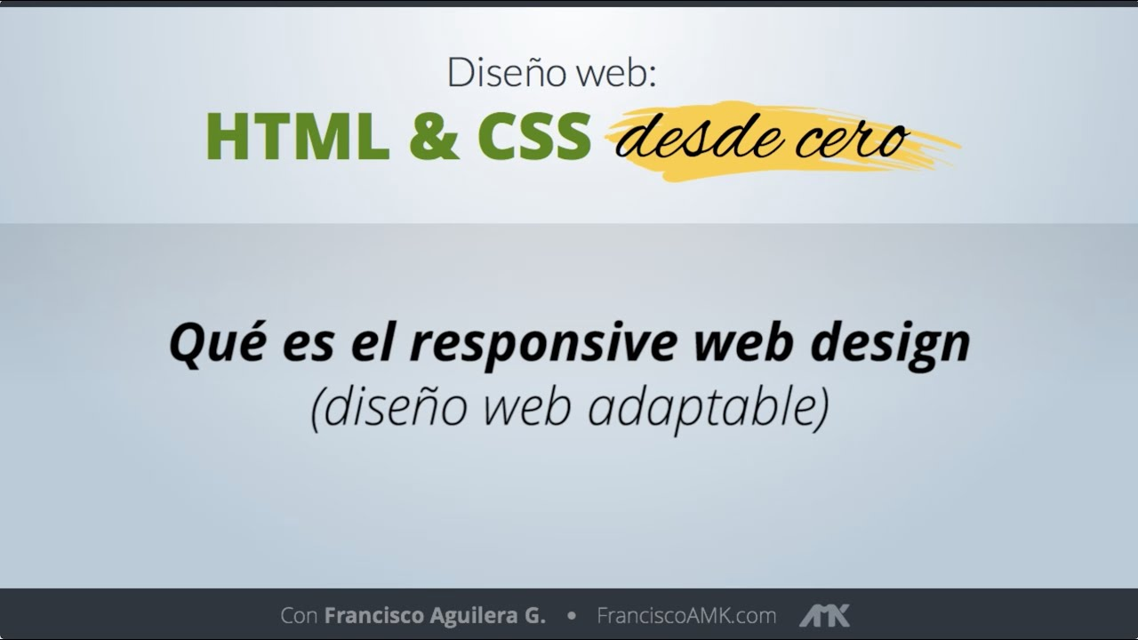 HTML y CSS Desde Cero – 22. Qué es el responsive Web Design