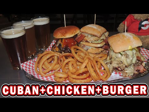 Triple Threat Sandwich Challenge W/ Giant Cuban & Chicken Bacon Club!!
