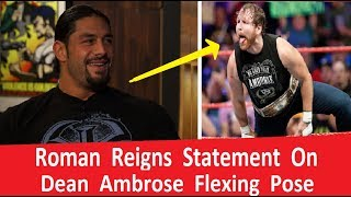 Roman Reigns Making Fun Of Dean Ambrose Flexing Face !!