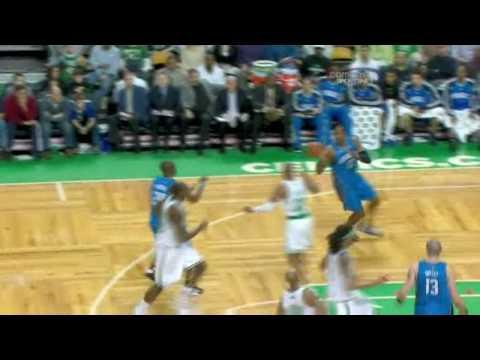 Dwight Howard Abuses Kendrick Perkins Twice!!! 08.03.09