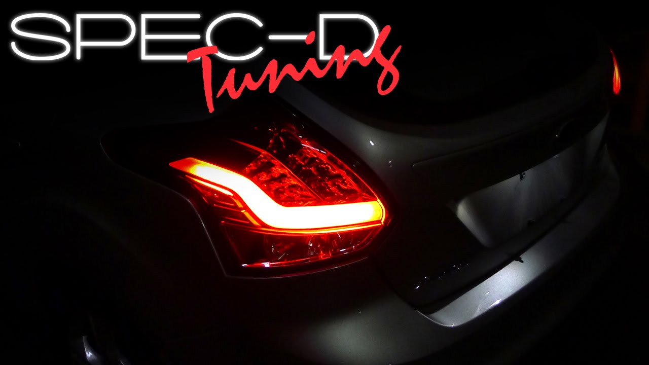 hight resolution of specdtuning installation video 2012 2014 ford focus hatchback led tail light youtube