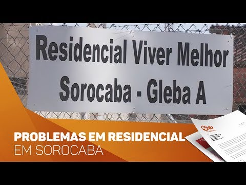 Problemas em residencial em Sorocaba - TV SOROCABA/SBT