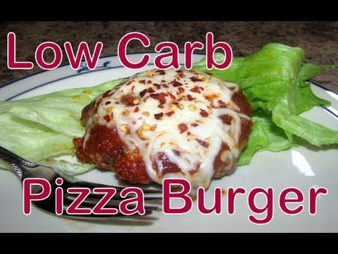 Atkins Diet Recipes: Low Carb Pizza Burgers (IF)