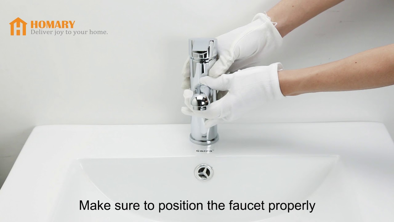 Installing Chaf Single Handle Lavatory Faucet Pullout Spray - YouTube
