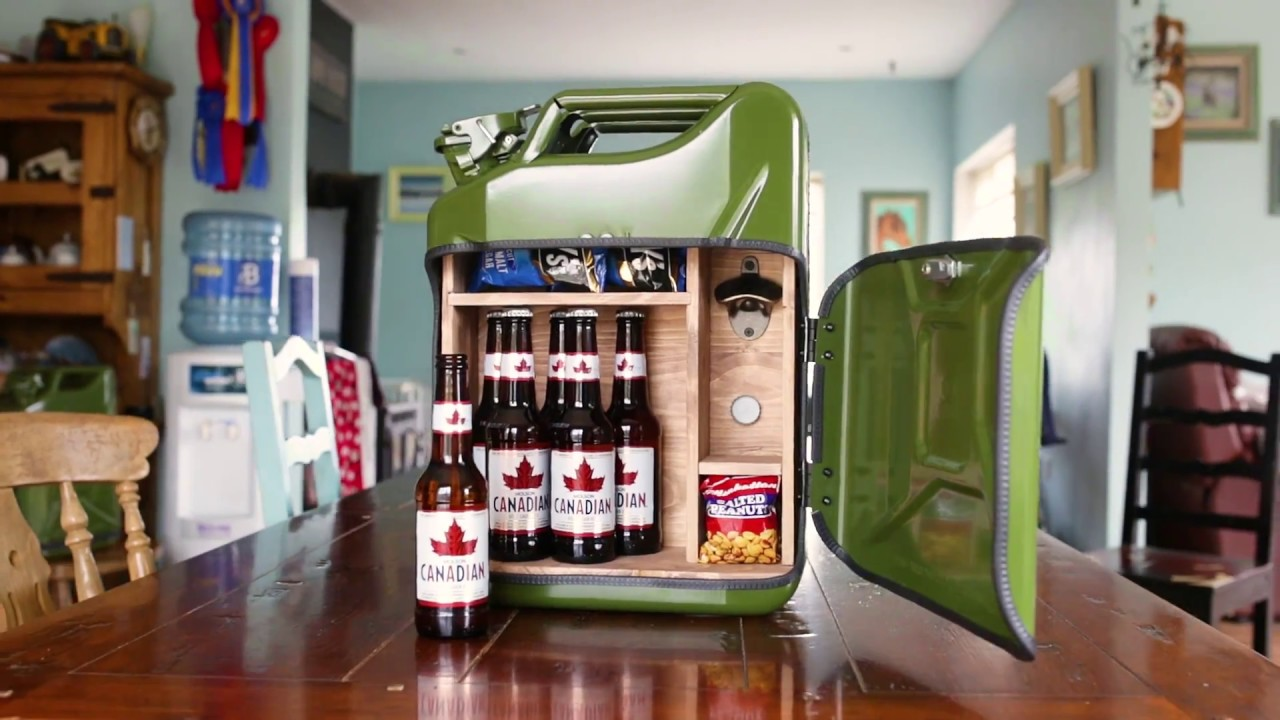 Beer Bar Jerry Can Minibar - YouTube