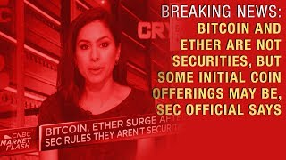 BREAKING NEWS: BTC and ETH Are Not Securities According to SEC Official Says!