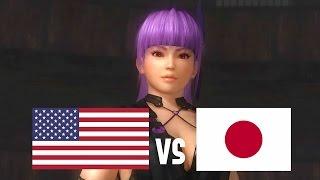 DOA5LR English Vs Japanese Voice Comparison (Part 4) (Zack, Ayane, Hayabusa)