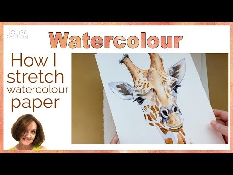 How To Stretch Watercolor Paper // How I Keep My Watercolour Paper Flat