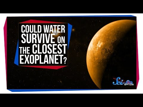 Could Water Survive on the Closest Exoplanet?